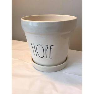 NEW Rae Dunn HOPE Flower Pot Planter Ceramic
